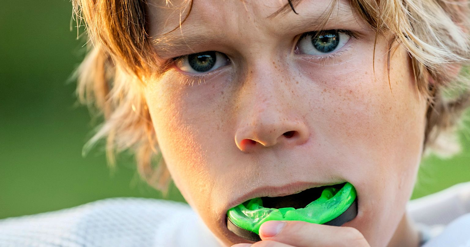 mouth guards are excellent protection for teeth